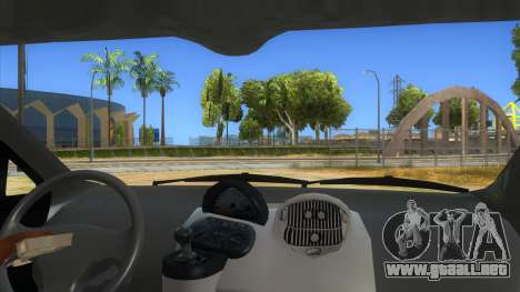 Fiat Multipla FAKETAXI para visión interna GTA San Andreas