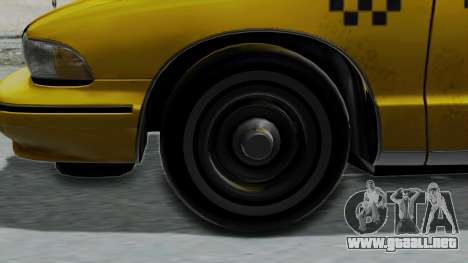 Chevrolet Caprice 1991 Taxi para GTA San Andreas vista posterior izquierda