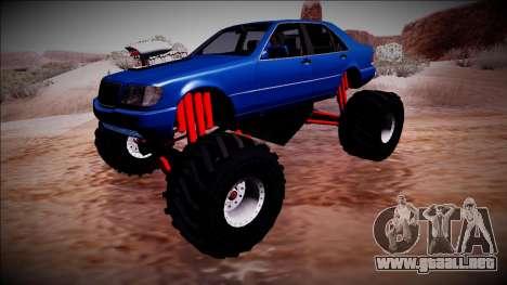 Mercedes-Benz W140 Monster Truck para visión interna GTA San Andreas