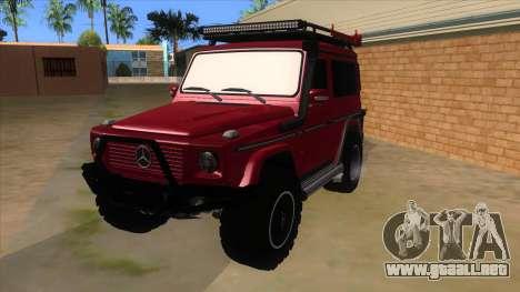 Mercedes-Benz G500 Off Road V3.0 para GTA San Andreas
