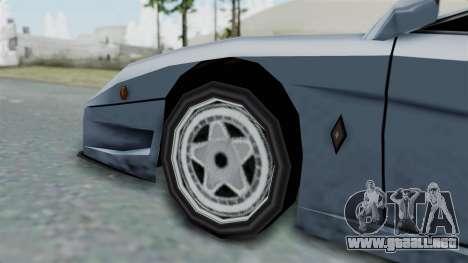 RC Turismo para GTA San Andreas vista posterior izquierda