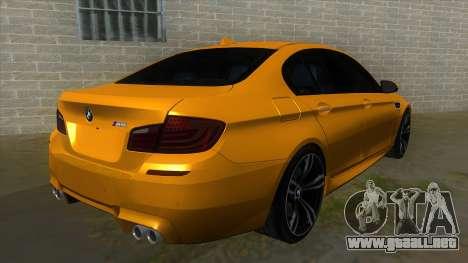 BMW M5 F10 para la visión correcta GTA San Andreas