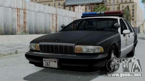 Chevrolet Caprice 1991 CRASH Division para GTA San Andreas