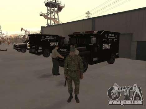 El aire de soldado para GTA San Andreas segunda pantalla