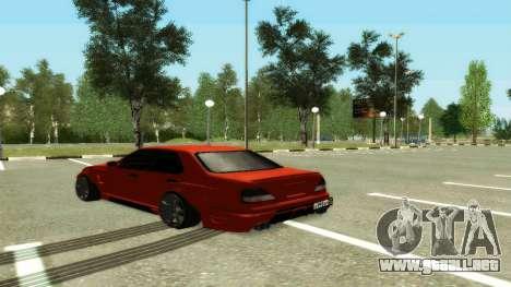 Nissan Cedric WideBody para GTA San Andreas vista posterior izquierda