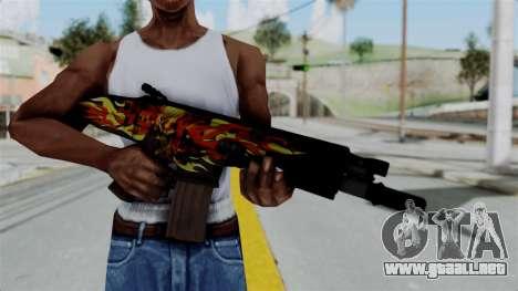 SCAR-L Extra PJ para GTA San Andreas tercera pantalla