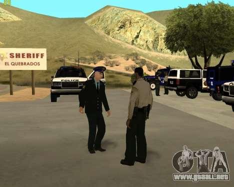 La Piel Es Sergei Glukharev para GTA San Andreas sucesivamente de pantalla