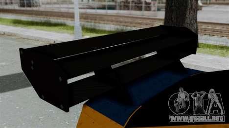 GTA 5 Karin Sultan RS Drift Big Spoiler para GTA San Andreas vista hacia atrás