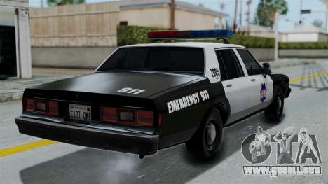 Chevrolet Impala 1985 SFPD para GTA San Andreas left