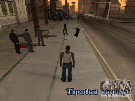 Los rusos en el distrito de Compras de la v2 para GTA San Andreas quinta pantalla