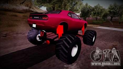 2009 Dodge Challenger SRT8 Monster Truck para GTA San Andreas left