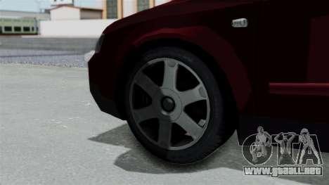 Audi A4 para GTA San Andreas vista posterior izquierda