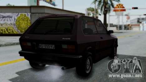 Yugo Koral 55 para GTA San Andreas left