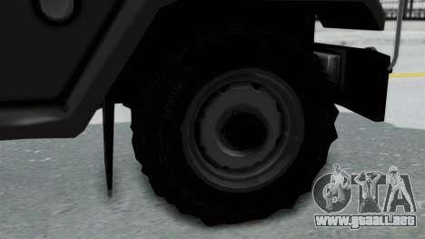 Jeep con Estacas Stylo Colombia para GTA San Andreas vista posterior izquierda