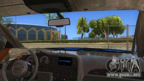 Audi RS6 Blue Star Badgged para visión interna GTA San Andreas