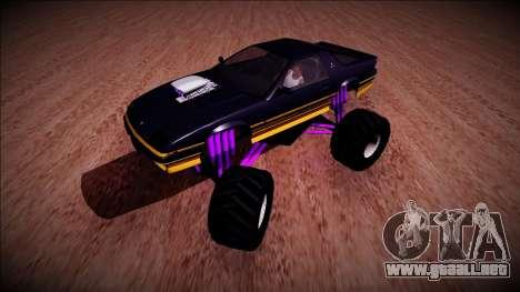 GTA 5 Imponte Ruiner Monster Truck para GTA San Andreas left