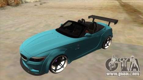 BMW Z4 Liberty Walk Performance para la vista superior GTA San Andreas