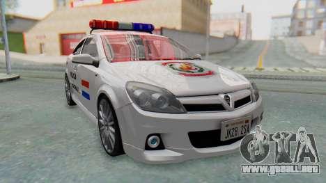 Opel-Vauxhall Astra Policia para GTA San Andreas vista posterior izquierda