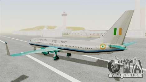 Boeing 737-800 Business Jet Indian Air Force para GTA San Andreas left