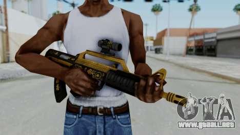 GTA 5 Online Lowriders DLC Bullpup Rifle para GTA San Andreas tercera pantalla