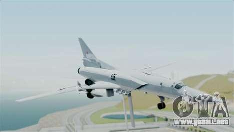 TU-22M3 para GTA San Andreas vista posterior izquierda