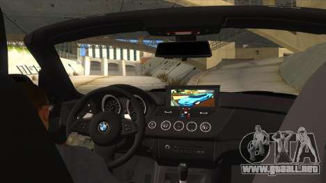 BMW Z4 Liberty Walk Performance para visión interna GTA San Andreas