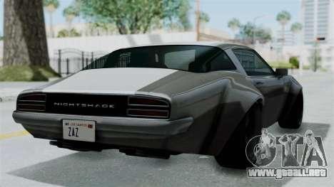 GTA 5 Nightshade para GTA San Andreas left