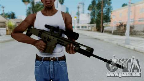 SCAR-20 v1 No Supressor para GTA San Andreas tercera pantalla