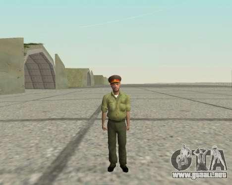 Oficial de las fuerzas armadas de la Federación  para GTA San Andreas segunda pantalla