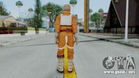 SWTFU - Luke Skywalker Pilot Outfit para GTA San Andreas tercera pantalla