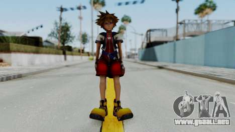 Kingdom Hearts 2 - Sora Early Costume Fix para GTA San Andreas segunda pantalla