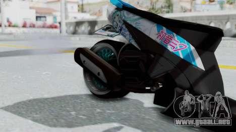 Honda Vario 110 Hatsune Miku Itansha para la visión correcta GTA San Andreas