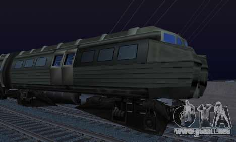 Batman Begins Monorail Train Vagon v1 para GTA San Andreas vista hacia atrás