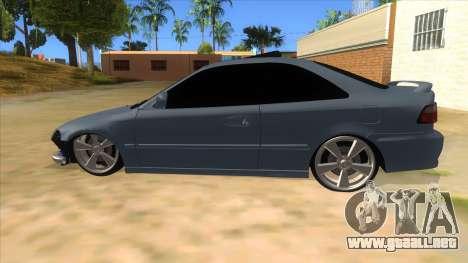 Honda Civic Coupe 1995 para GTA San Andreas left