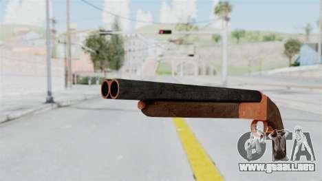 Double Barrel Shotgun Orange Tint (Lowriders CC) para GTA San Andreas segunda pantalla