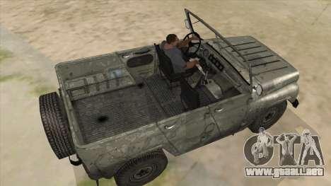 UAZ-469 Old Green Rust para la visión correcta GTA San Andreas