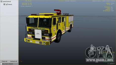 GTA 5 Los Angeles Fire Truck vista lateral derecha