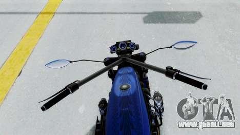 Turbike 4.0 para GTA San Andreas vista hacia atrás