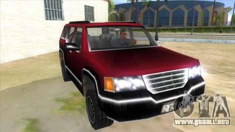 GTA III Landstalker para GTA San Andreas vista hacia atrás