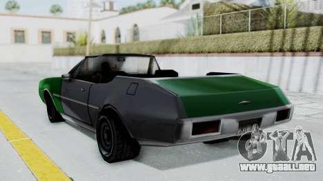 Clover Cabrio para GTA San Andreas left