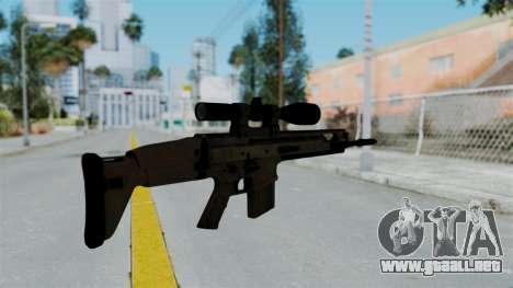 SCAR-20 v1 No Supressor para GTA San Andreas segunda pantalla