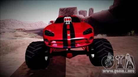 Dodge Viper SRT10 Monster Truck para vista lateral GTA San Andreas