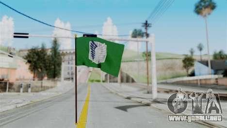 Attack On Titan Survey Crops Flag para GTA San Andreas segunda pantalla