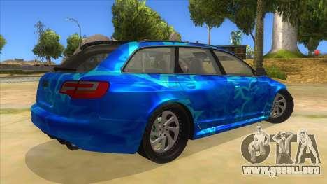 Audi RS6 Blue Star Badgged para la visión correcta GTA San Andreas