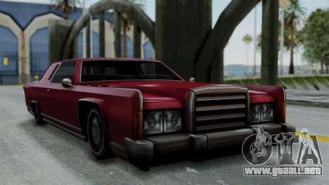 Remington Las Vivas para GTA San Andreas vista posterior izquierda