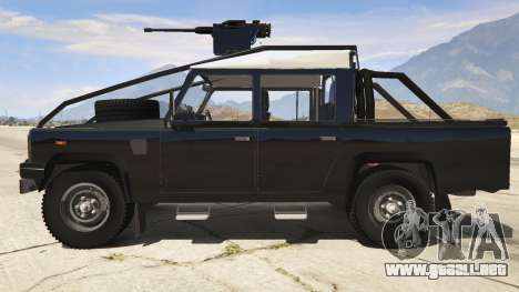 GTA 5 Land Rover 110 Pickup Armoured vista lateral izquierda