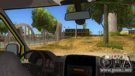 Mercedes-Benz Sprinter INEM Ambulance para visión interna GTA San Andreas