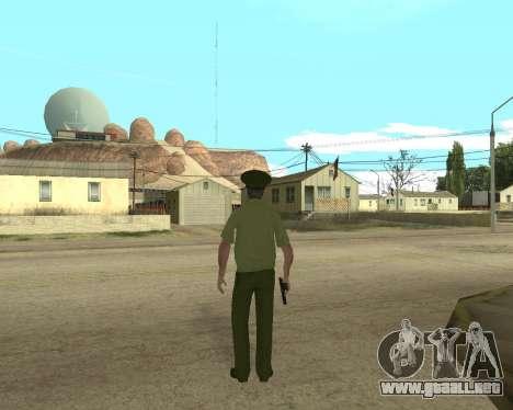 Suboficial mayor danyluk para GTA San Andreas tercera pantalla