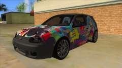 Volkswagen Golf R32 Hatsune Miku Itasha para GTA San Andreas