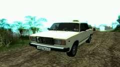 VAZ 2107 Taxi para GTA San Andreas